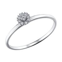 Тонкое помолвочное кольцо с бриллиантами